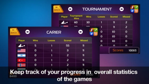 Screenshots of the Table Tennis 3D – Virtual World Cup game for iPhone, iPad or iPod.