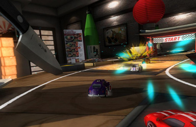 Capturas de pantalla del juego TABLE TOP RACING para iPhone, iPad o iPod.