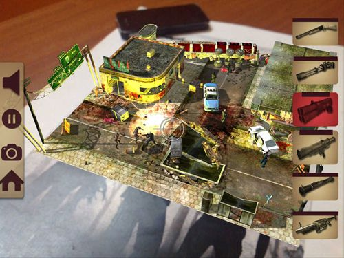 Free Table zombies: Augmented reality game download for iPhone, iPad and iPod.