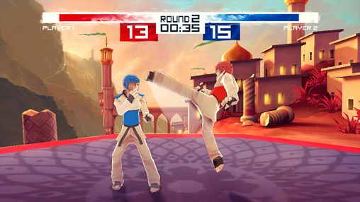 Capturas de pantalla del juego Taekwondo game: Global tournament para iPhone, iPad o iPod.