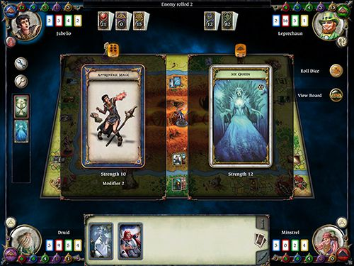 Screenshots of the Talisman game for iPhone, iPad or iPod.