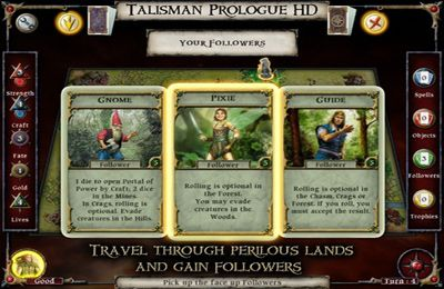 Screenshots of the Talisman Prologue game for iPhone, iPad or iPod.