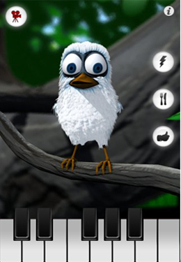 Capturas de pantalla del juego Talking Larry the Bird para iPhone, iPad o iPod.