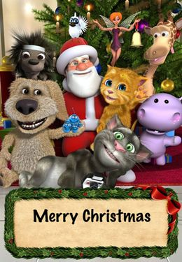 Геймплей Talking Santa for iPhone для Айпад.