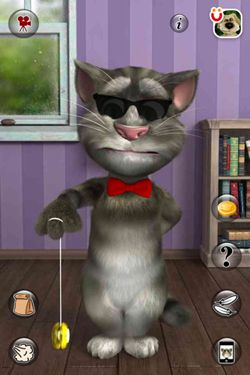 Screenshots vom Spiel Talking Tom Cat 2 für iPhone, iPad oder iPod.