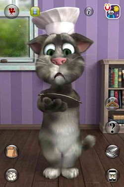Capturas de pantalla del juego Talking Tom Cat 2 para iPhone, iPad o iPod.