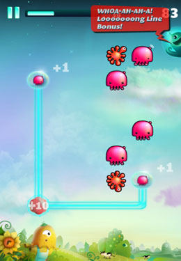 Screenshots of the Tanglers game for iPhone, iPad or iPod.