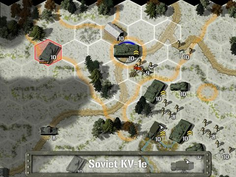 Écrans du jeu Tank battle: East front 1941 pour iPhone, iPad ou iPod.