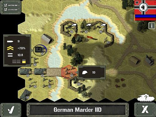 Screenshots of the Tank Battle: East Front 1942 game for iPhone, iPad or iPod.