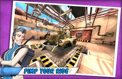 Screenshots of the Tank Battles - Explosive Fun! game for iPhone, iPad or iPod.
