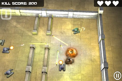 Screenshots of the Tank hero game for iPhone, iPad or iPod.