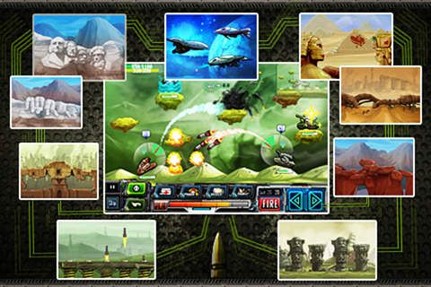 Screenshots of the Tank warz game for iPhone, iPad or iPod.