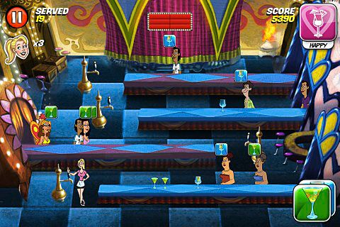 Screenshots of the Tapper: World tour game for iPhone, iPad or iPod.
