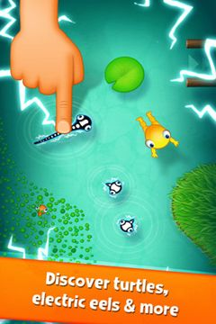 Screenshots do jogo Tasty Tadpoles para iPhone, iPad ou iPod.