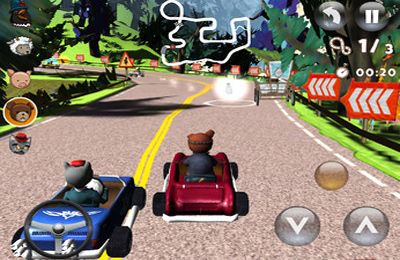 Screenshots vom Spiel Teddy Floppy Ear: The Race für iPhone, iPad oder iPod.