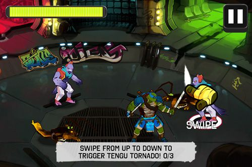 Screenshots vom Spiel Teenage mutant ninja turtles: Brothers unite für iPhone, iPad oder iPod.