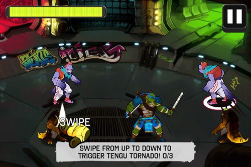 Screenshots of the Teenage mutant ninja turtles: Brothers unite game for iPhone, iPad or iPod.