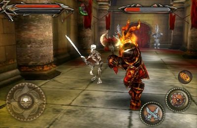 Screenshots vom Spiel Tehra Dark Warrior für iPhone, iPad oder iPod.