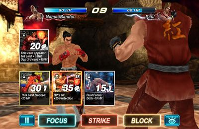 Screenshots vom Spiel Tekken Card Tournament für iPhone, iPad oder iPod.