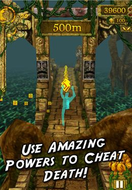 Écrans du jeu Temple Run pour iPhone, iPad ou iPod.