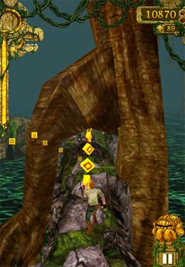 Capturas de pantalla del juego Temple Run para iPhone, iPad o iPod.