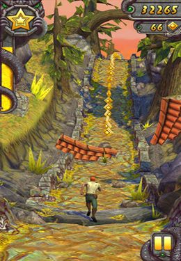 Écrans du jeu Temple Run 2 pour iPhone, iPad ou iPod.