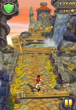 Capturas de pantalla del juego Temple Run 2 para iPhone, iPad o iPod.