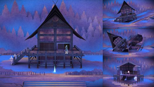 Capturas de pantalla del juego Tengami para iPhone, iPad o iPod.