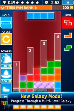 Screenshots do jogo TETRIS para iPhone, iPad ou iPod.