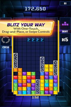 Capturas de pantalla del juego Tetris Blitz para iPhone, iPad o iPod.