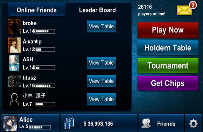 Capturas de pantalla del juego Texas Holdem Poker para iPhone, iPad o iPod.