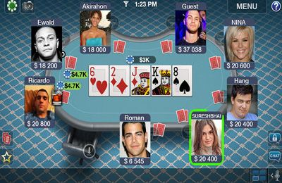 Capturas de pantalla del juego Texas Poker Pro para iPhone, iPad o iPod.