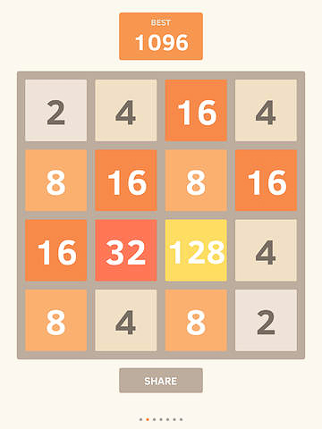 Download The 2048 iPhone free game.