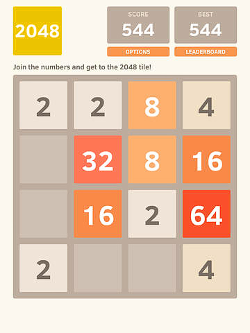 Capturas de pantalla del juego The 2048 para iPhone, iPad o iPod.