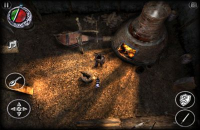 Capturas de pantalla del juego The Bard's Tale para iPhone, iPad o iPod.