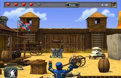 Capturas de pantalla del juego The Bluecoats: North vs South para iPhone, iPad o iPod.