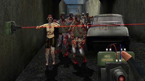 Screenshots vom Spiel The dead town of walking zombies für iPhone, iPad oder iPod.