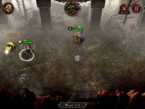 Screenshots vom Spiel The Gate für iPhone, iPad oder iPod.