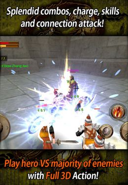 iPhone、iPad または iPod 用The Heroes of Three Kingdomsゲームのスクリーンショット。