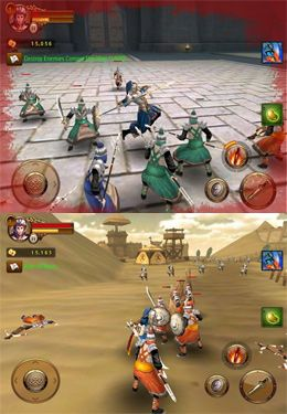 Écrans du jeu The Heroes of Three Kingdoms pour iPhone, iPad ou iPod.