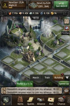 Скриншот игры The Hobbit: Kingdoms of Middle-earth на Айфон.