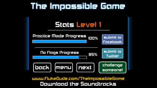 Screenshots of the The impossible game game for iPhone, iPad or iPod.