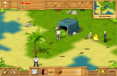 Écrans du jeu The Island: Castaway pour iPhone, iPad ou iPod.