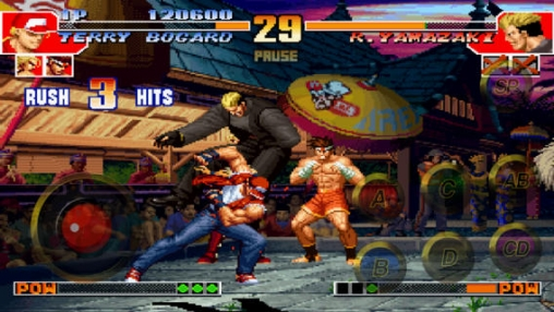 Screenshots vom Spiel The King of Fighters 97 für iPhone, iPad oder iPod.