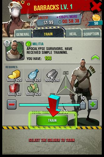Screenshots of the The last war game for iPhone, iPad or iPod.