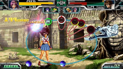 Capturas de pantalla del juego The rhythm of fighters para iPhone, iPad o iPod.