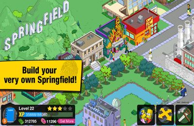 Capturas de pantalla del juego The Simpsons: Tapped Out para iPhone, iPad o iPod.