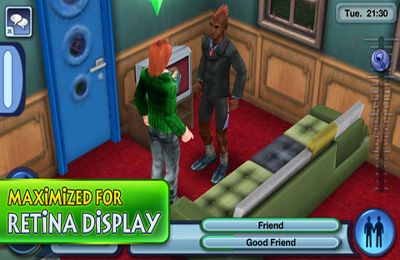 Écrans du jeu The Sims 3 pour iPhone, iPad ou iPod.