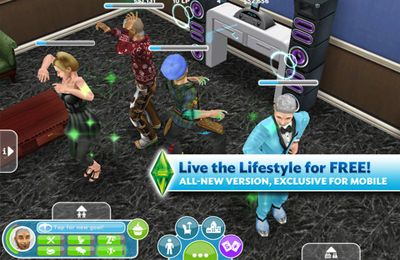 Screenshots of the The Sims FreePlay game for iPhone, iPad or iPod.