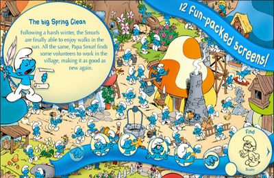 Screenshots of the The Smurfs Hide & Seek with Brainy game for iPhone, iPad or iPod.